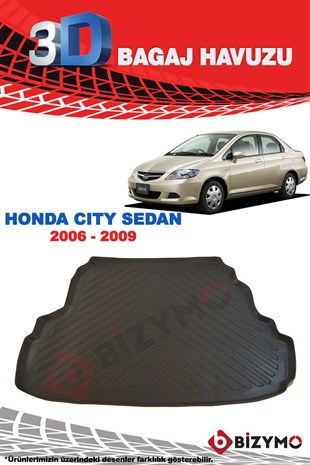 Honda City Sedan 2006-2009 3D Bagaj Havuzu Bizymo